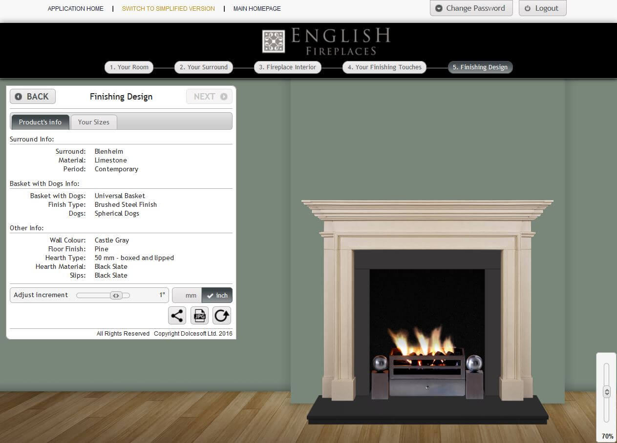 Step 5 finishing design english fireplaces for Design your own fireplace