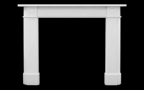 Reeded Bullseye Marble Fireplace English Fireplaces