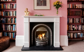 Flat Victorian Marble Fireplace