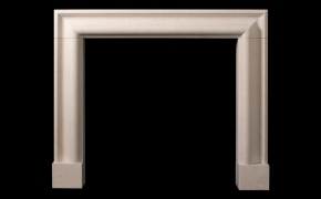 Simple Bolection Limestone Fireplace