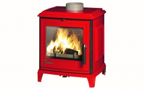 Invicta Sedan S Cast Iron Stove – Red Enamel
