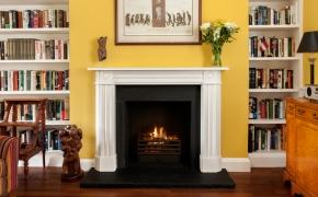 Regency Bullseye Limestone Fireplace