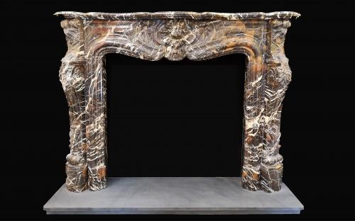 Louis Pompadour Marble Fireplace