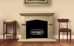 Tudor Gothic Sandstone Fireplace