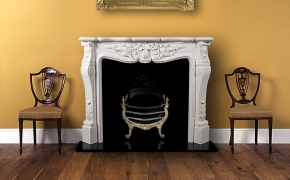 Louis XV Limestone Fire Surround