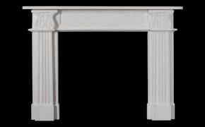 Acanthus Limestone Fireplace